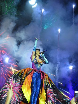 "Prismatic World Tour - Perry closing the show with a performance of ""Firework"""