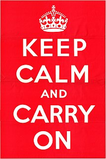 <i>Keep Calm and Carry On</i> Motivational poster produced by the British government in 1939