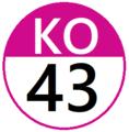 Keio KO43 station number.png