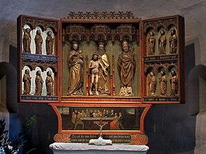 St. Severin, Keitum - Image: Keitum Kirche Altar