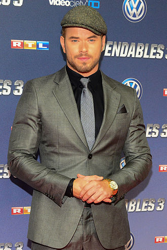 Kellan Lutz - Lutz at the Germany premiere of The Expendables 3 in 2014
