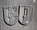 Kendenich-Wappen-ehemaliger Burgherren-Grootr-und-Pütz.JPG