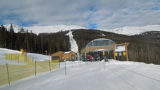 Leitner-Poma - The Kensho SuperChair at Breckenridge Ski Resort is one of a number of new Leitner-Poma lifts with the LPA design