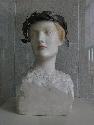 Fernand Khnopff - Futur or A young English woman (1898)