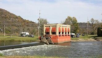Kickapoo River - Kickapoo River in Gays Mills in 2010