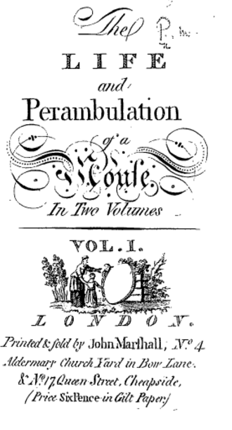John Marshall (publisher) - Title page from Dorothy Kilner's Life and Perambulation of a Mouse, with one of Marshall's imprints