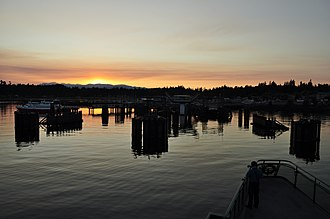 Kingston, Washington - Kingston Ferry Terminal at dusk