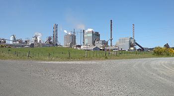 English: Kinleith Mill, a paper and pulp mill ...