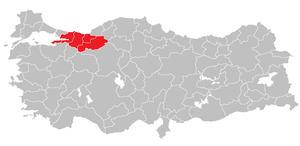 Kocaeli Subregion - Image: Kocaeli Subregion