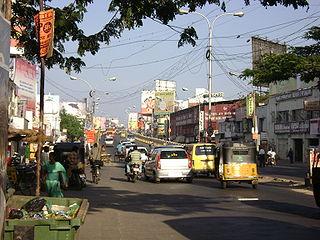 Kodambakkam neighbourhood in Chennai District, Tamil Nadu, India
