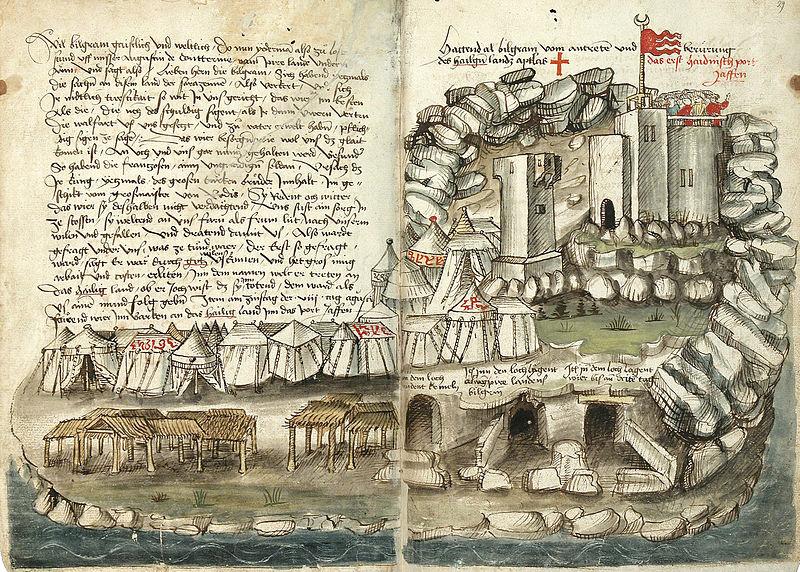File:Konrad von Grünenberg - Beschreibung der Reise von Konstanz nach Jerusalem - Blatt 28v-29r.jpg