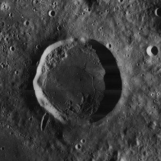 Kopff (crater) - Lunar Orbiter 4 image