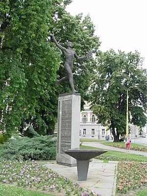 Košice Peace Marathon - Memorial of the Košice Peace Marathon at the Marathon Square in Košice, Slovakia