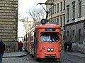 Krakov, Stare Miasto, ulice Dominikańska, tramvaj.JPG