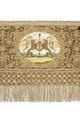 Kristinas broderade kröningshimmel från 1650 med spira hållen av lejon - Livrustkammaren - 91406.tif