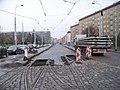Kubánské náměstí, V olšinách, rekonstrukce trati.jpg
