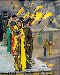 Kurdish New Year ceremony of Nawroz, Palangan village, Hawraman,Kurdistan.jpg