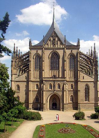 St. Barbara's Church, Kutná Hora - Image: Kutna Hora CZ St Barbara Cathedral front view 02