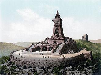 Kyffhäuserbund - Kyffhäuser memorial around 1900