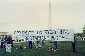 Libertarian Party (United States) - Image: LP Prochoice Rally DC 11 12 1989