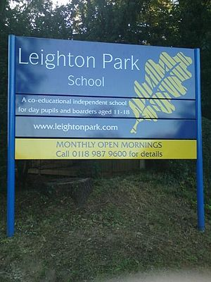 Leighton Park School - Leighton Park School sign