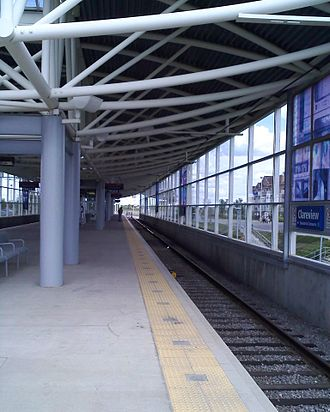 Clareview station - Image: LRT Station Clareview 10