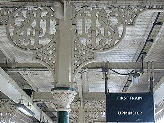 East Ham tube station - Image: LTSR east ham tube station london