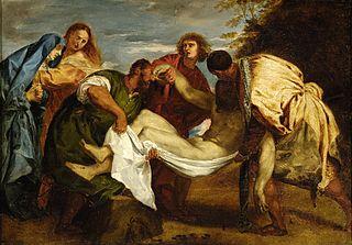 La Mise au tombeau d'après Titien