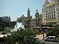 La plaça de l'Ajuntament de València des de la Filmoteca.JPG