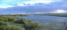 Mendoza Province-Geography and climate-Laguna de Llancanelo (panorama)