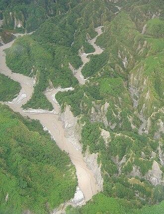 Lake Pinatubo - Lahar canyons in the Pinatubo area, 2006