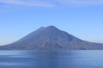 Volcán Tolimán - Volcán Tolimán from Panajachel (behind it is Volcán Atitlán)