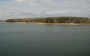 Lake Hartwell State Park - Image: Lake Hartwell State Park seen from the highway