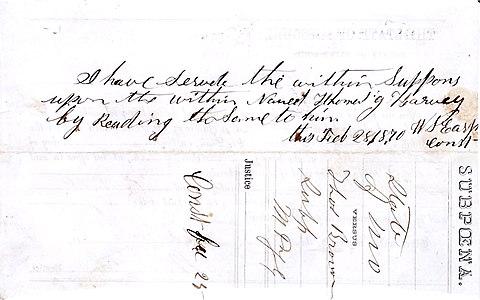 Lamar Missouri summons Wyatt Earp constable