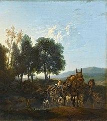 Landscape with mule driver