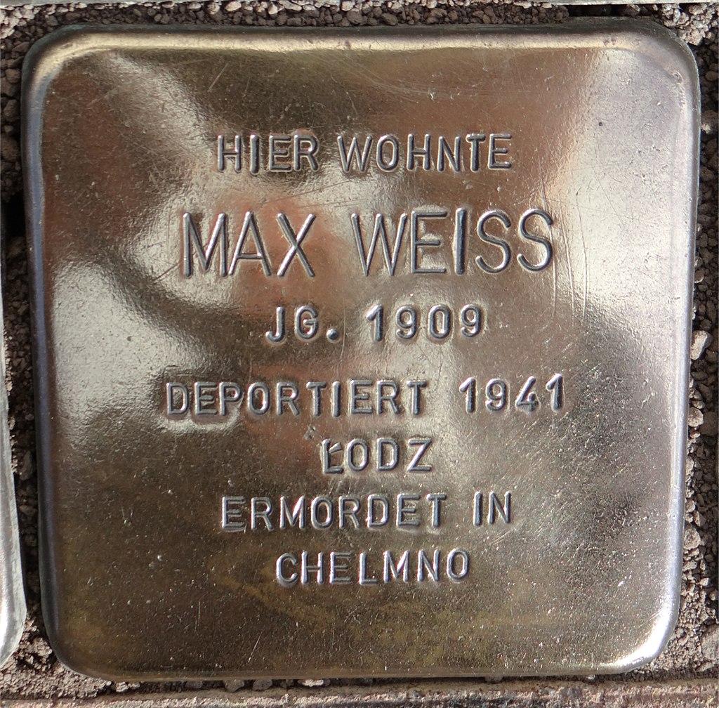 Langenlonsheim Stolperstein Schulstraße 12 Max Weiss.jpg
