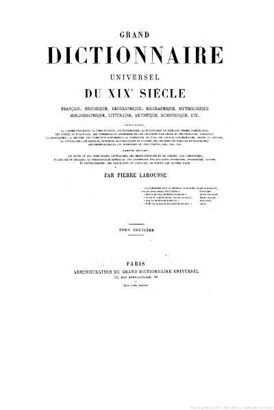 File:Larousse - Grand dictionnaire universel du XIXe siècle - Tome 9, part. 1, H-Ho.djvu