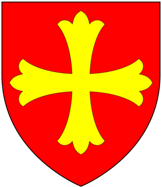 Baron Latimer - Arms of Latimer: Gules, a cross patonce or