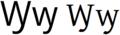 Latin alphabet WY.png