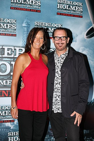 Kirk Pengilly - Pengilly and wife Layne Beachley at the Sydney premiere of Sherlock Holmes: A Game of Shadows, 2011.