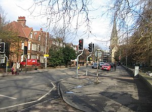 Lensfield Road - View along Lensfield Road.