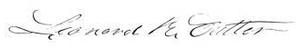 Leonard R. Cutter - Image: Leonard Richardson Cutter signature