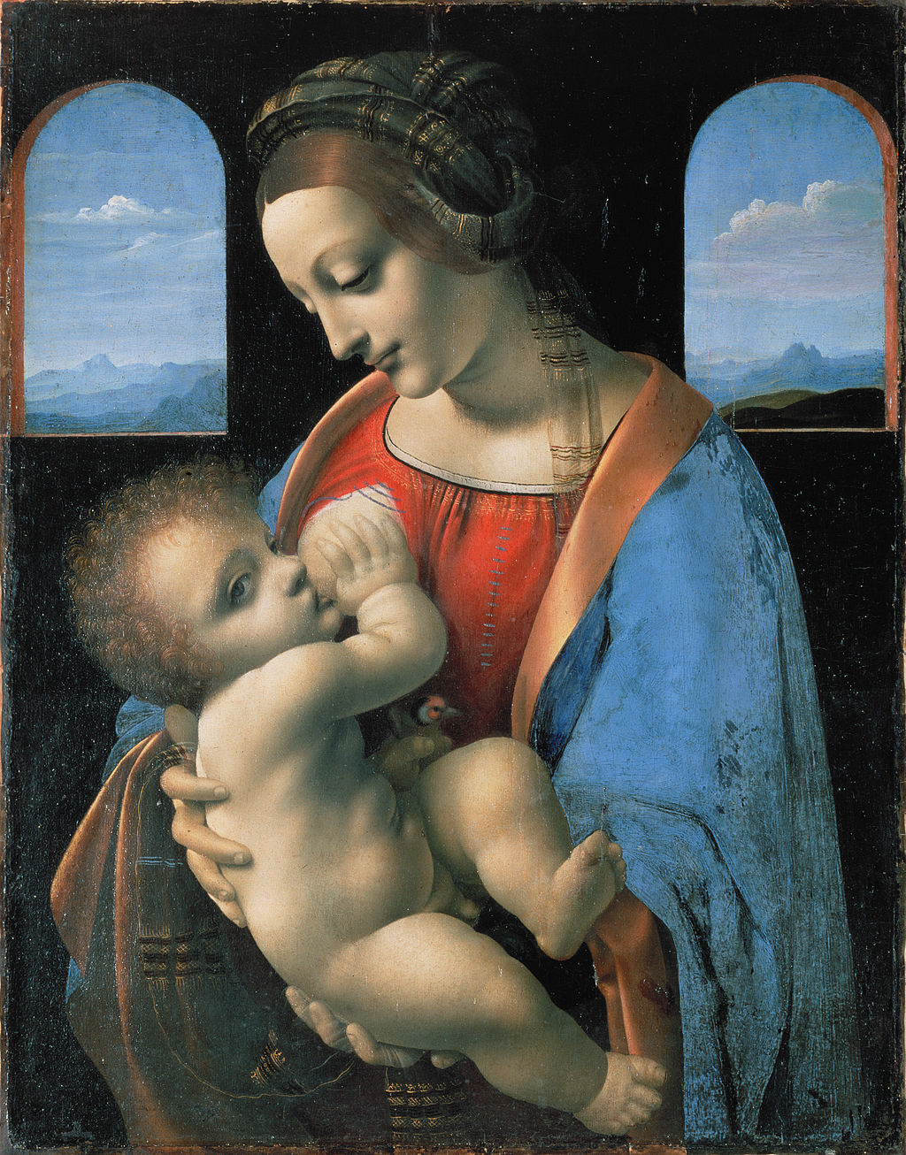 Leonardo da Vinci attributed - Madonna Litta