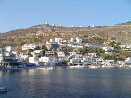 View of Panteli village in Leros