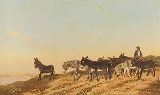 Eugène Burnand - Image: Les Anes dans le Midi