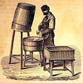 """Les merveilles de l'industrie, 1873 """"Le dégorgement d'une bouteille de vin de Champagne"""". (4306310980).jpg"""