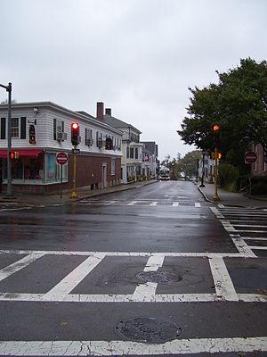 Leyden Street - Image: Leyden Street in Plymouth Mass
