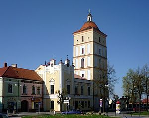 Leżajsk - Town Hall and market square
