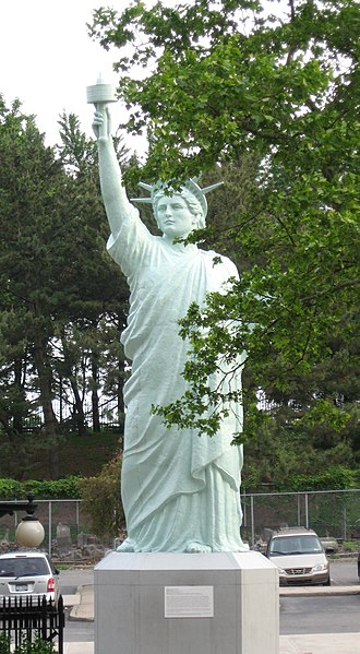 Brooklyn Museum - Replica of the Statue of Liberty (Liberty Enlightening the World) in back lot.