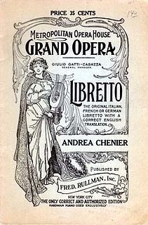 Libretto text used for an extended musical work
